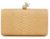 Kate Landry Snake-Print Pineapple Clutch
