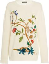 Alberta Ferretti Cotton Embroidered Sweater