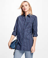 Brooks Brothers Striped Cotton Dobby Tunic