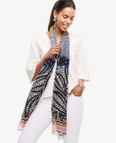 Ann Taylor Mixed Geo Scarf