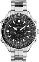 Seiko Men's Solar Chronograph Prospex Radio Sync Stainless Steel Bracelet Watch 48mm SSG001