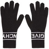 Givenchy Intarsia Wool Gloves - Black