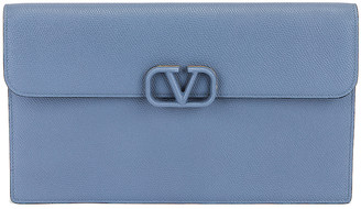 Valentino Large Flat Pouch in Blue | FWRD