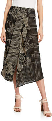 Zero Maria Cornejo Cross-Stitch Embroidered Maxi Skirt