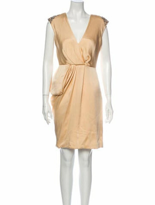 J. Mendel Silk Mini Dress Pink