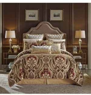 Croscill Julius 4 Piece King Comforter Set Bedding