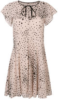 RED Valentino star print mini dress - women - Polyester - 38