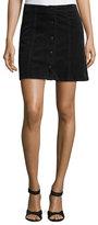 Joie Tilda Snap-Front Corduroy Mini Skirt