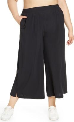Zella High Waist Crop Wide Leg Pants