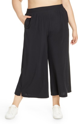 Zella High Waist Crop Wide Leg Woven Pants