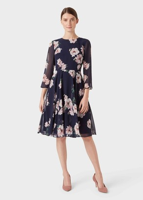 Hobbs Norah Floral Fit And Flare Dress