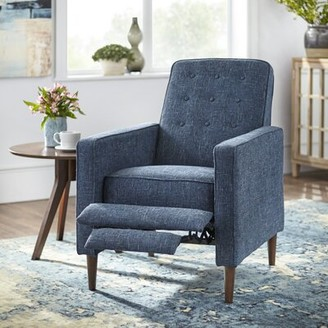 Mercury Row Meliton Manual Recliner Fabric: Denim Blue Polyester Blend