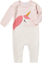 Angel Dear Unicorn Intarsia Knit Coverall, Size 0-12 Months