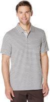 Perry Ellis Short Sleeve Horizontal Stripe Polo