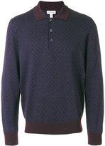 Brioni long sleeve polo shirt - men - Silk/Cashmere/Wool - 50
