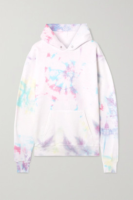 Dannijo Hailey Oversized Tie-dyed Cotton-blend Jersey Hoodie - White
