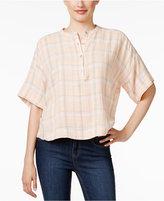 Calvin Klein Jeans Plaid Henley Shirt