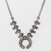 SUGARFIX by BaubleBar Antiqued Squash Blossom Necklace - Medium Silver