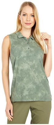 Puma Floral Dye Sleeveless Polo (Thyme) Women's Clothing