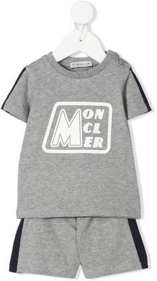 Moncler Enfant two piece short and T-shirt set