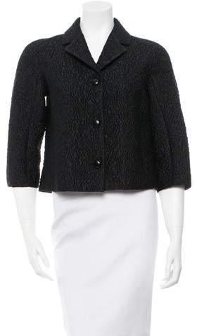 Michael Kors Notch-Lapel Textured Jacket