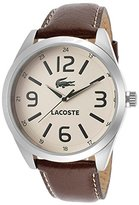 Lacoste Men's Montreal Cream Dial Brown Genuine Leather