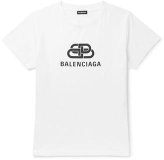 Balenciaga Slim-Fit Logo-Print Cotton-Jersey T-Shirt