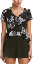 Olivaceous Peplum Top