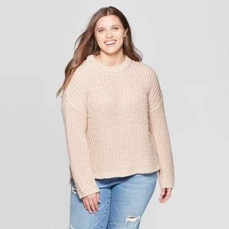 Universal Thread Women's Plus Size Long Sleeve Crewneck Chunky Pullover Sweater - Universal ThreadTM