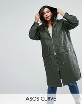 Asos Waxed Rain Jacket