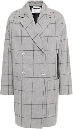 3.1 Phillip Lim Double-breasted Checked Woven Coat