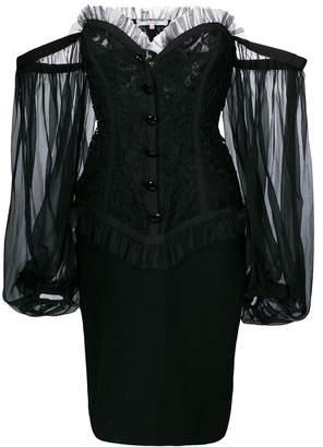 Saint Laurent Pre-Owned off-shoulder bustier dress