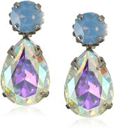 "Sorrelli Rainbow Quartz"" Teardrop Accent Drop Earrings"