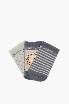 Country Road Newborn Sock Pack of 3