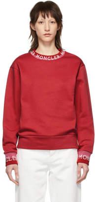 Moncler Red Logo Sweatshirt