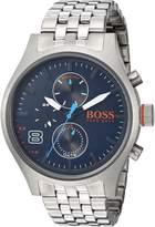 HUGO BOSS BOSS Orange Men's 'Amsterdam' Quartz Stainless Steel Casual Watch, Color:Silver-Toned (Model: 1550023)