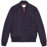 Gucci Wool bomber jacket with bees and stars