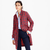 J.Crew Collection red plaid trench coat in nylon