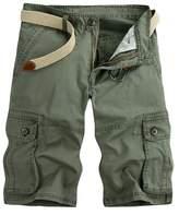 MedzRE Men's Stylish Camouflage Cargo Pocket Summer Shorts