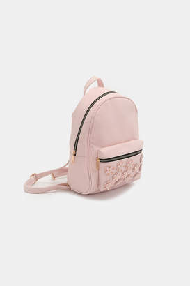 Ardene Faux Leather Floral Backpack