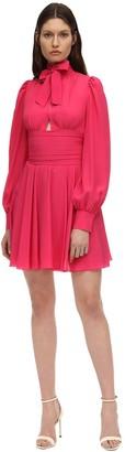 Brognano Silk Blend Mini Dress