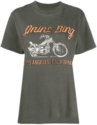 Anine Bing LA motorbike print T-shirt