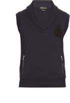 Alexander McQueen Logo-appliqué sleeveless cotton sweatshirt