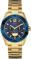 GUESS Blue and Gold-Tone Polished Sporty-Chic Watch