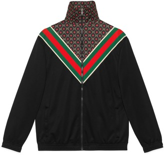Gucci Oversize jersey jacket with GG star