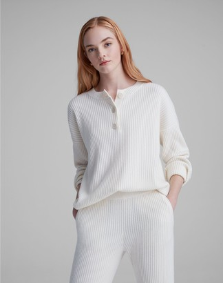 Club Monaco Cashmere Blend Ribbed Henley Sweater