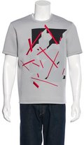 Calvin Klein Abstract Embroidered Neoprene T-Shirt