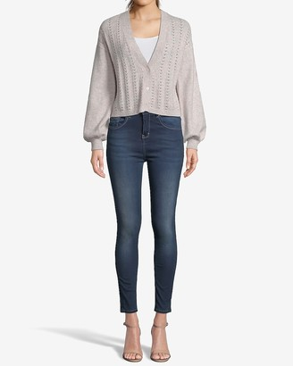 Express Long Sleeve Button Front Knit Cardigan