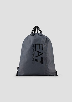 Ea7 Backpack In Tech Fabric With Logo