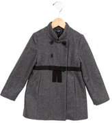 Little Marc Jacobs Girls' Bow-Embellished Wool Coat